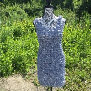 ZARA Collection Blue Ruffle Layered Mini Dress S